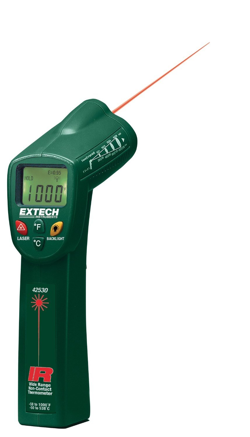 Extech 42530-NIST Wide Range IR Thermometer with NIST