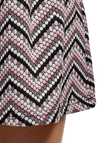oodji en Ultra Textur 2941s Rose vase Tissu Femme Jupe rqgxrf