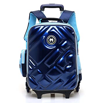 Amazon.com : HIGOGOGO Boys Girls Rolling Backpack for Student Kids ...