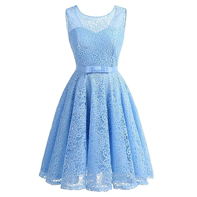 Ishine Damen Ärmellos Rockabilly Kleid Mit Brautjungfernkleid VLMGjSpzqU