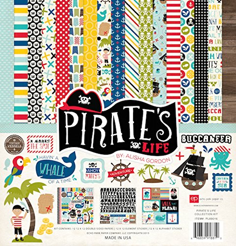 Scrap Pad Kit (Echo Park Paper Company Pirate's Life Collection Kit Paper Pad)