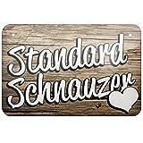 Metal Sign Standard Schnauzer, Dog Breed Germany, Large 12x18