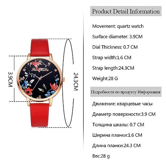 Dilwe Reloj de Pulsera de Esfera Redonda, 3 Colores Reloj de Pulsera de Moda Simple y Elegante de Moda con Correa de Reloj de Cuero de PU(Blanco): ...