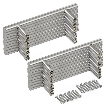 in acciaio inox diametro 12 mm 20 pezzi Maniglia per mobili da cucina