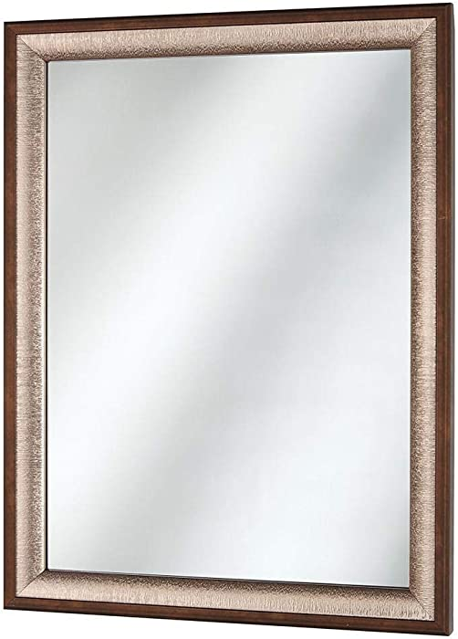 Home Decorators Collection 45380 Framed Fog Free Bathroom Wall Mirror - Silver/Bronze
