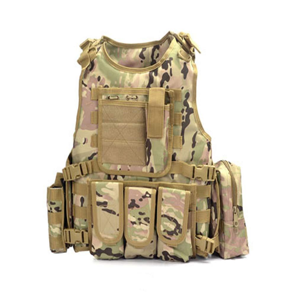 LXY&AI Cs Tactical Vest - Außen Ultra Light Breathkampftraining Weste - Abnehmbare Tasche Jungle Feld Weste - Einstellbare Größe Tactical Belt - Schwarz