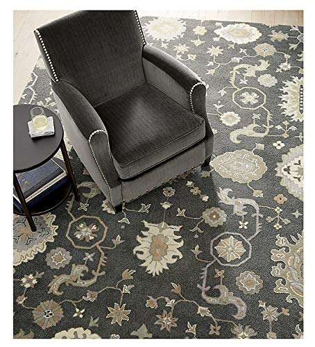 Amazon.com: Crate and Barrel Juno Gray Traditional Persian ...