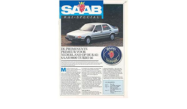 Amazon.com: 1985 Saab 90 900 & Turbo 9000 Turbo Brochure Dutch: Entertainment Collectibles