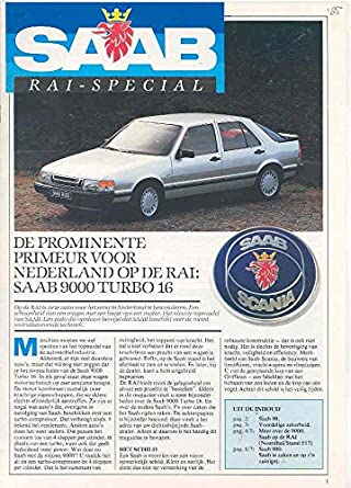 1985 Saab 90 900 & Turbo 9000 Turbo Brochure Dutch