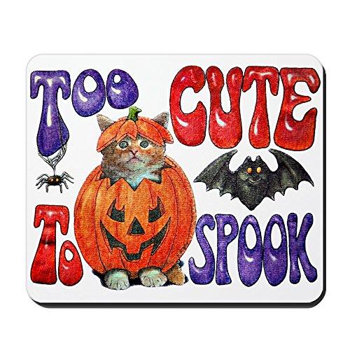 Mousepad (Mouse Pad) Halloween Pumpkin Kitten Spider]()