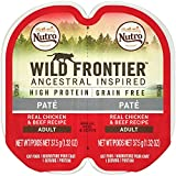 Nutro Wild Frontier High Protein Grain Free Pate Wet Cat Food, Chicken & Beef, 2.65 Oz. (24 Twin Packs)