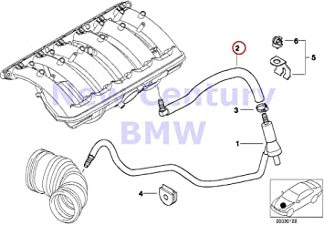 2000 bmw e46 engine diagram amazon com bmw genuine vacuum control engine hose elbow 323ci  engine hose elbow 323ci