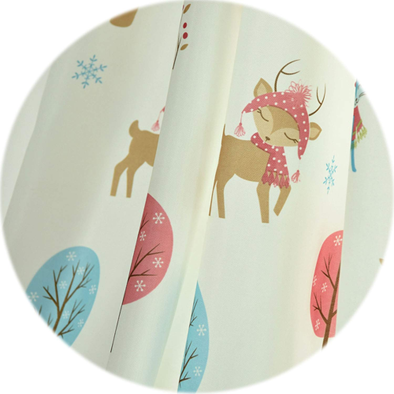 three thousand Christmas Bear Curtains Cartoon High Shading Drops for Child Bedroom Windows All Match Tulle Drapery Elegant Panel Tree,White Thick Curtain,W400cm L270cm,1 Rod Pocket