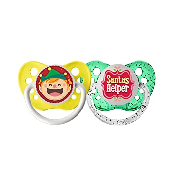 Santa/'s Little Elf Christmas Baby Pacifier
