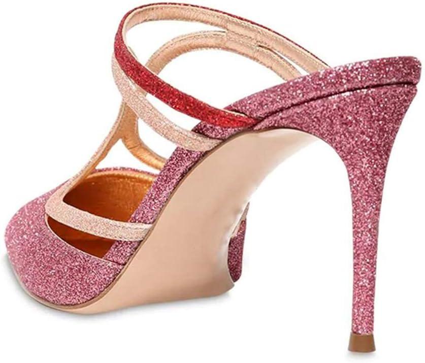 ZHHAOXINPA Clásico Zapatos de Tacón Alto de Punta Estrecha para Mujer, Sandalias de Moda, Zapatos de Tacón Alto, Sandalias de Tacón para Mujer para Mujer Pink