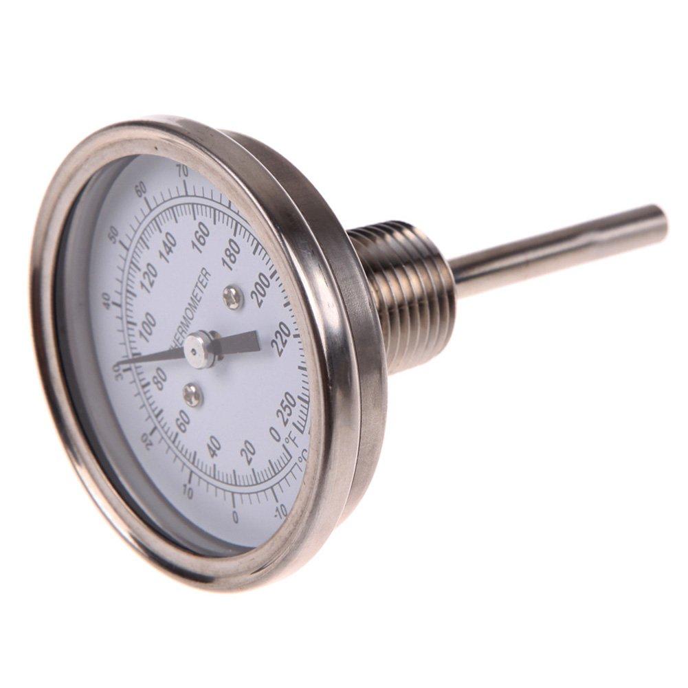 UEB 3 x 1/2''Stainless Steel Thermometer Moonshine Still Condenser Brew Mash Tun