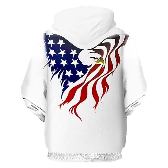 Sudaderas con Capucha de la Bandera Americana Hombres Mujeres Sudadera con  Capucha de la Bandera Hip Hop Sudadera con Capucha Casual de Invierno  American ... 498aad496ef