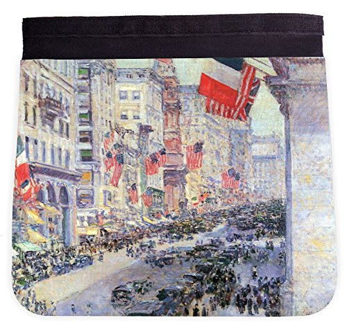 Rikki Knight Childe Hassam Art The Avenue along 34th Street Additional FLAP for Premium UKBK BackPack - FLAP - Street 34th Shops