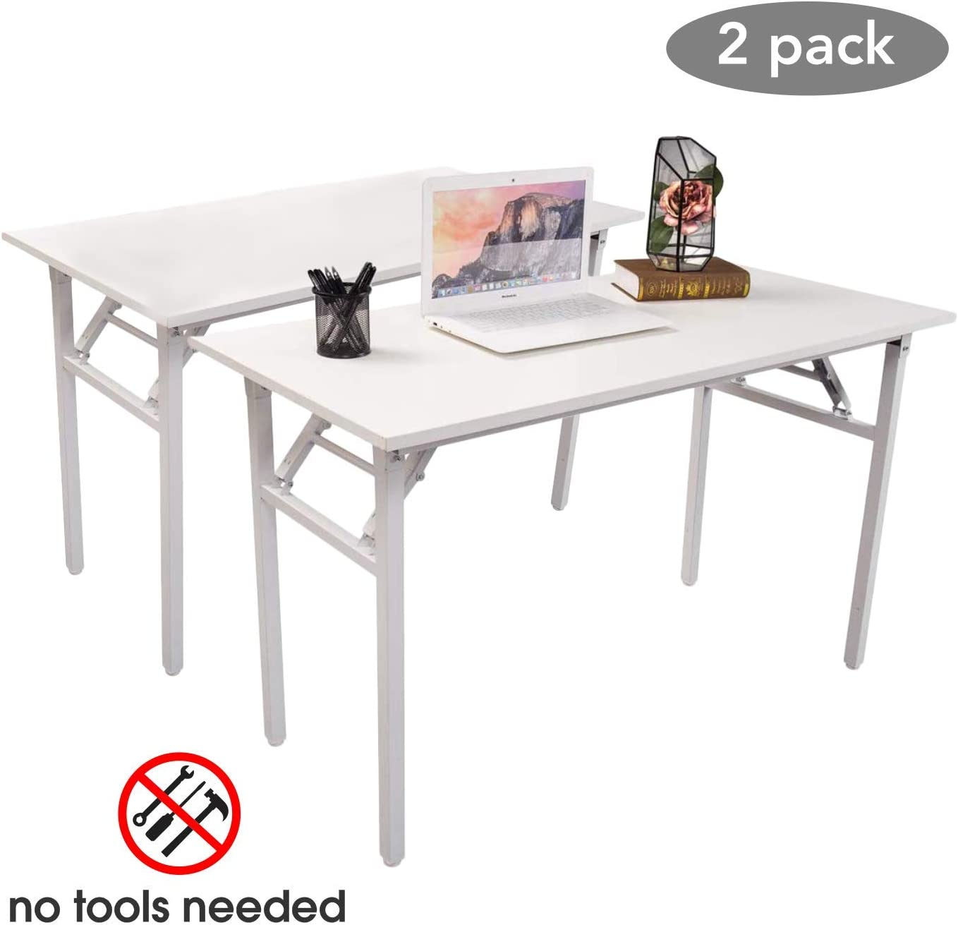 Halter Folding Computer Desk Foldable Writing & Study Table for