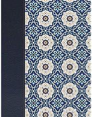 Rvr 1960 Biblia de Apuntes Edición Letra Grande, Piel Fabricada Y Mosaico Crema Y Azul