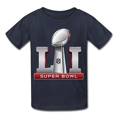 Amazon.com  Youth s Super Bowl 51 Li Logo 2017 T-Shirts  Clothing 78d18b32f