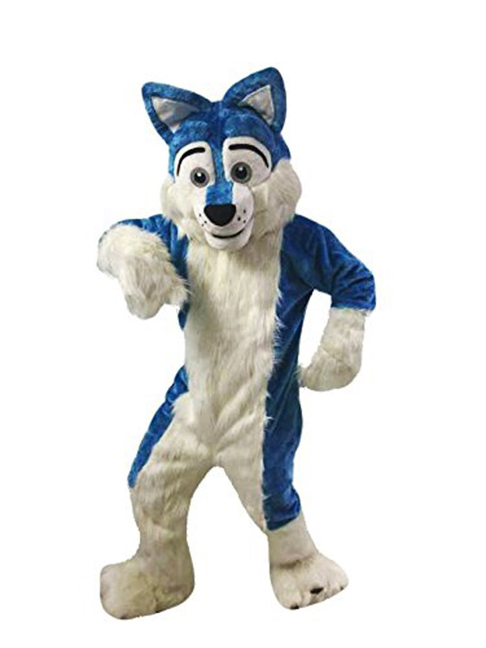 mascotshop Blue Wolf Dog Husky Mouse Christmas Halloween Outfit Fancy Dress