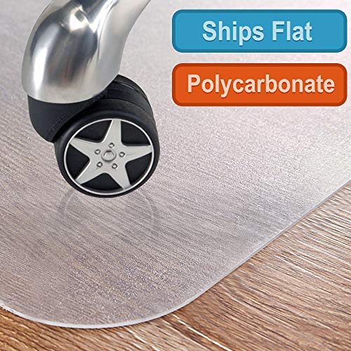 "Polycarbonate Office Chair mat for Hardwood Floor, Floor mat for Office Chair(Rolling Chairs)-Desk Mat&Office mat for Hardwood Floor-Sturdy&Durable,Immediately Flat When Taken Out of The Box:36""x48"""