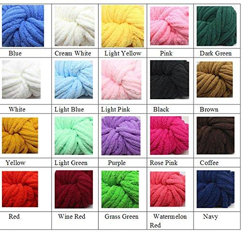 Giant Knit Chunky Chenille Throw Blanket Jumbo Chenille Yarn Blanket Hand Knit Cozy Throw Huge Knit Chenille Blanket 40''x80'' Kid Girls Gift by Vesna market (Image #1)