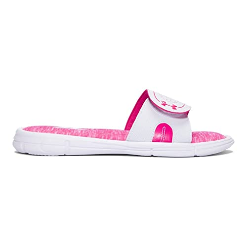 timeless design 2c588 d699b Amazon.com   Under Armour Women s UA Ignite Pip VIII Slide White Tropic  Pink 11 B US   Tennis   Racquet Sports
