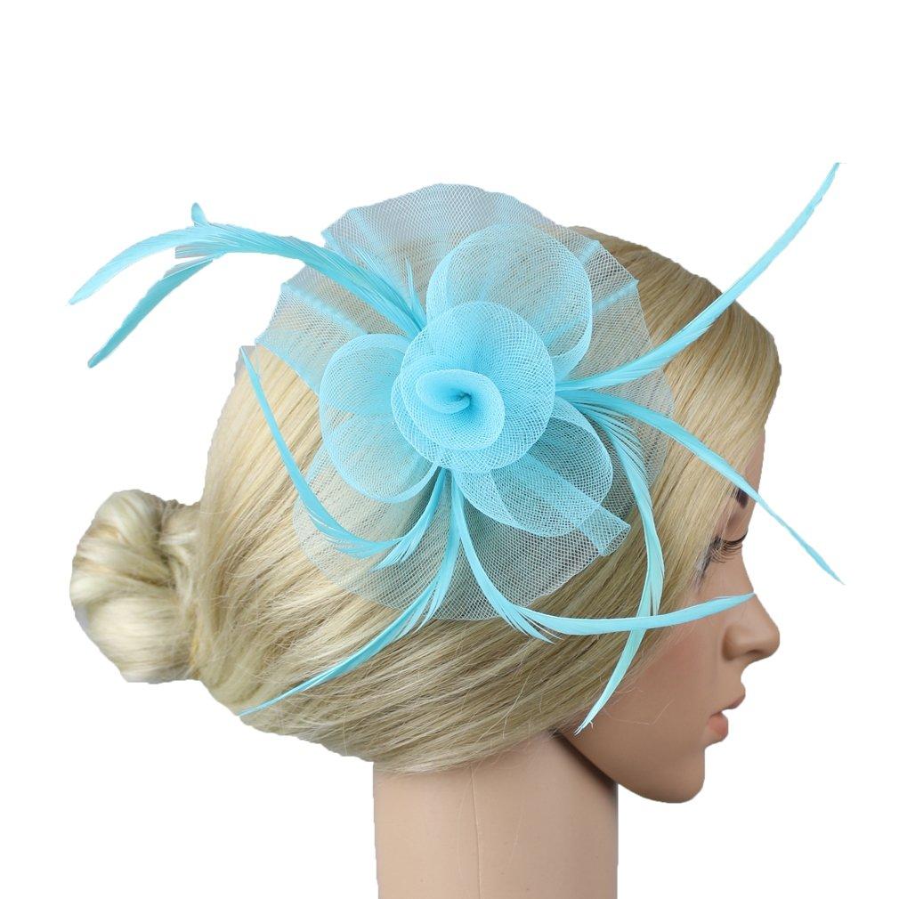 Women Flower Headwear Wedding Party Hair Clip Fascinator Headpiece Jelinda