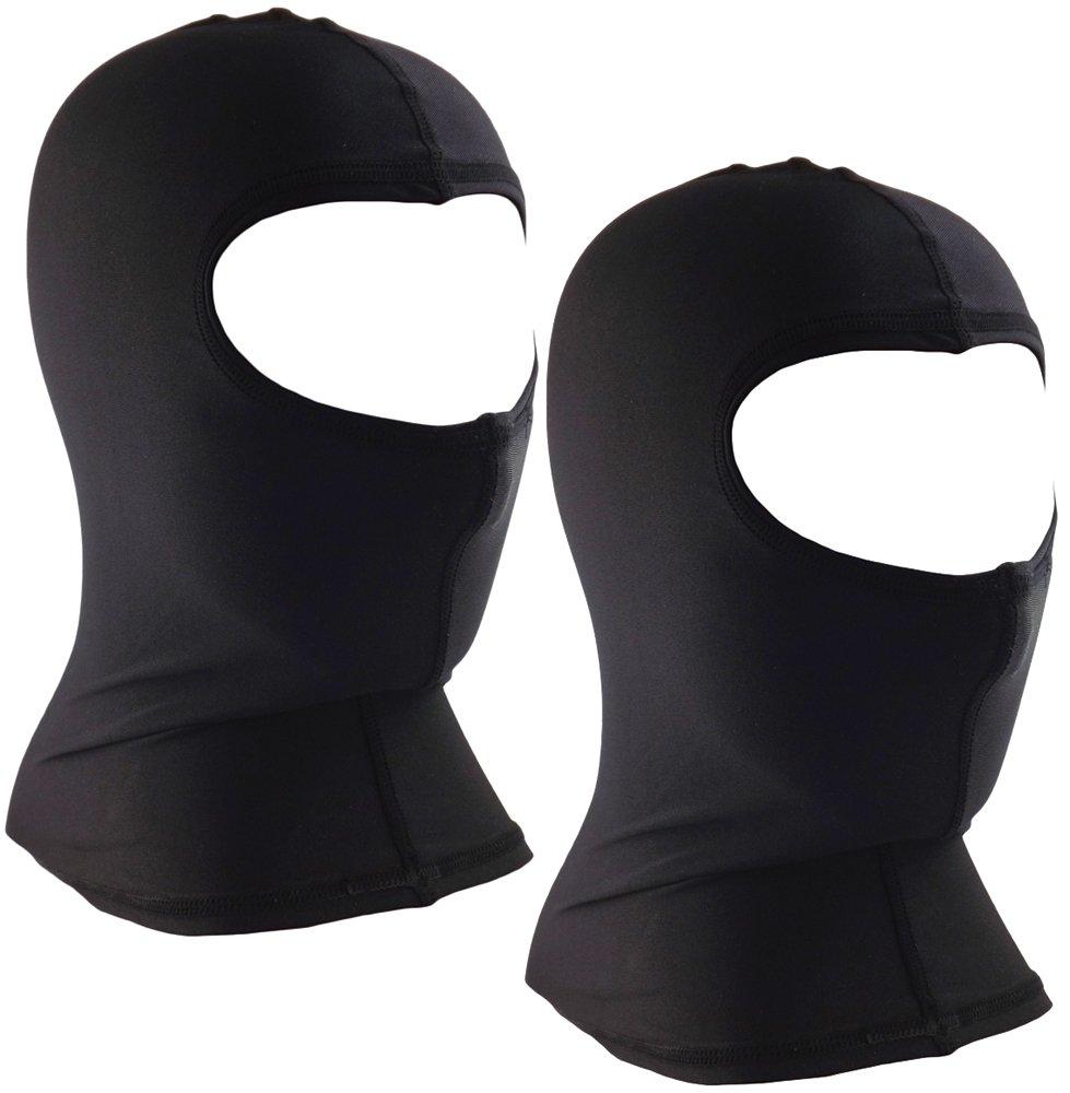 Core Helmets Unisex-Adult's Nylon Balaclava (Black, One Size), 2 Pack by Core Helmets (Image #1)