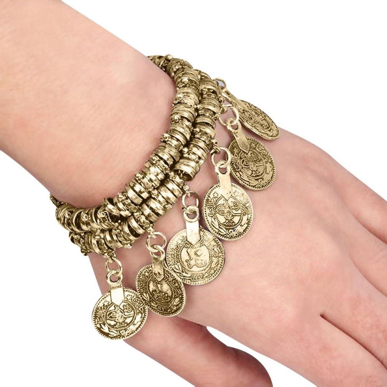 Susenstone 1PC Jewelry Bohemian Ethnic Vintage Silver Coin Bracelet Anklet