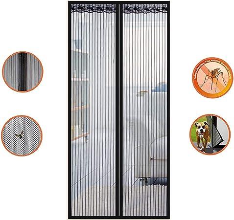 HANING Mosquitera Puerta Terraza Grande Enrollable, Exterior Corredera Cortina Magnética, Automático, Fácil De Instalar, Ventilación, Anti-Mosquito,Black,180x220cm(71x87inch): Amazon.es: Hogar