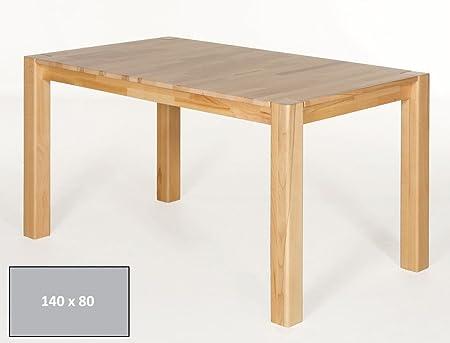 expendio hochwertiger Esstisch Georg 140x80cm Kernbuche lackiert Massivholztisch Holztisch