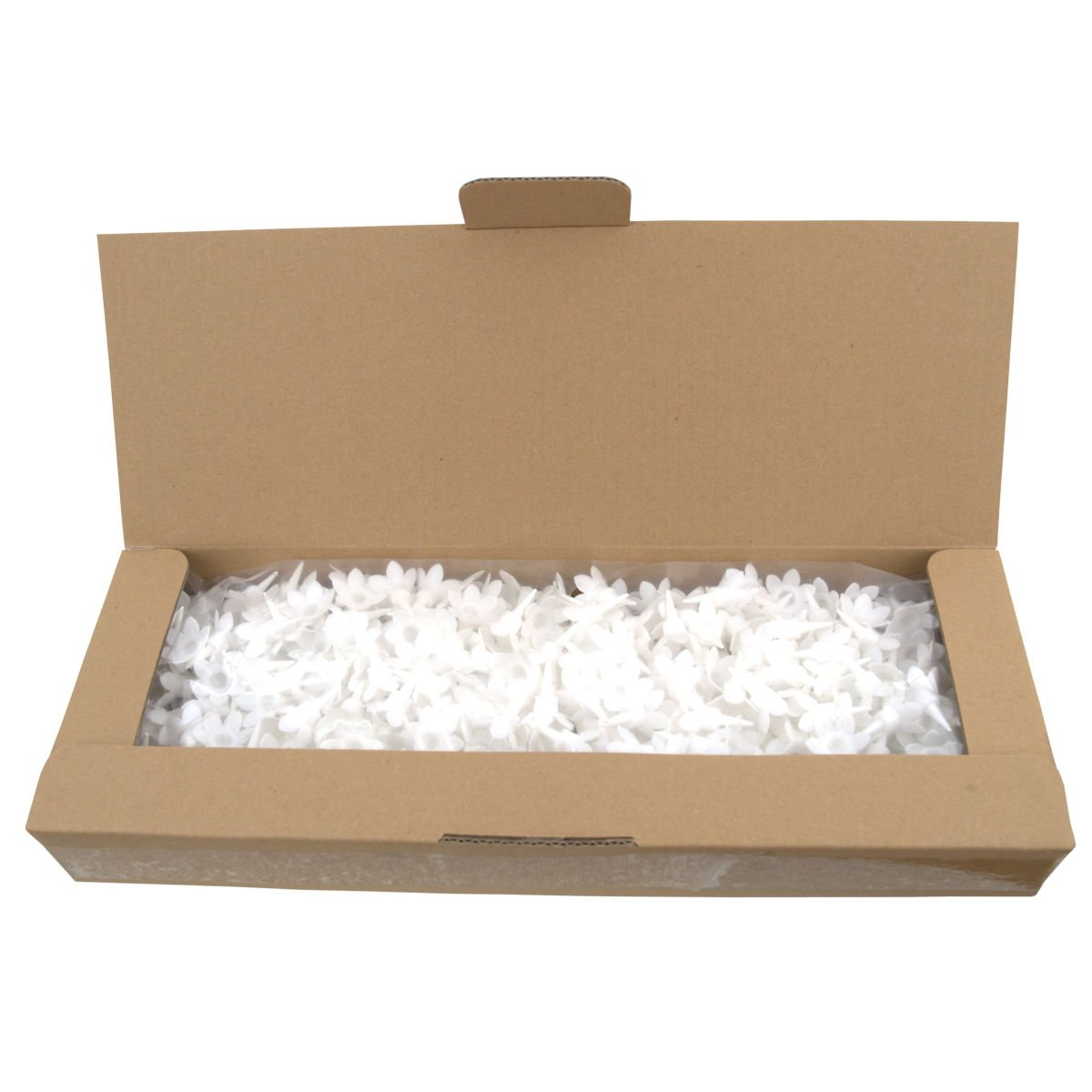 Bulk Pack of Plain Birthday Candles or Holders - Packs of 500 - Cake decoration accessories (White Candle Holders)
