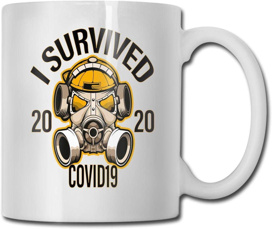 CORONAVIRUS Memes Diseño de camiseta Sobreviví COVID 19 2020 Taza de café Taza 11oz Escasez Humor Gag Gift Co Worker