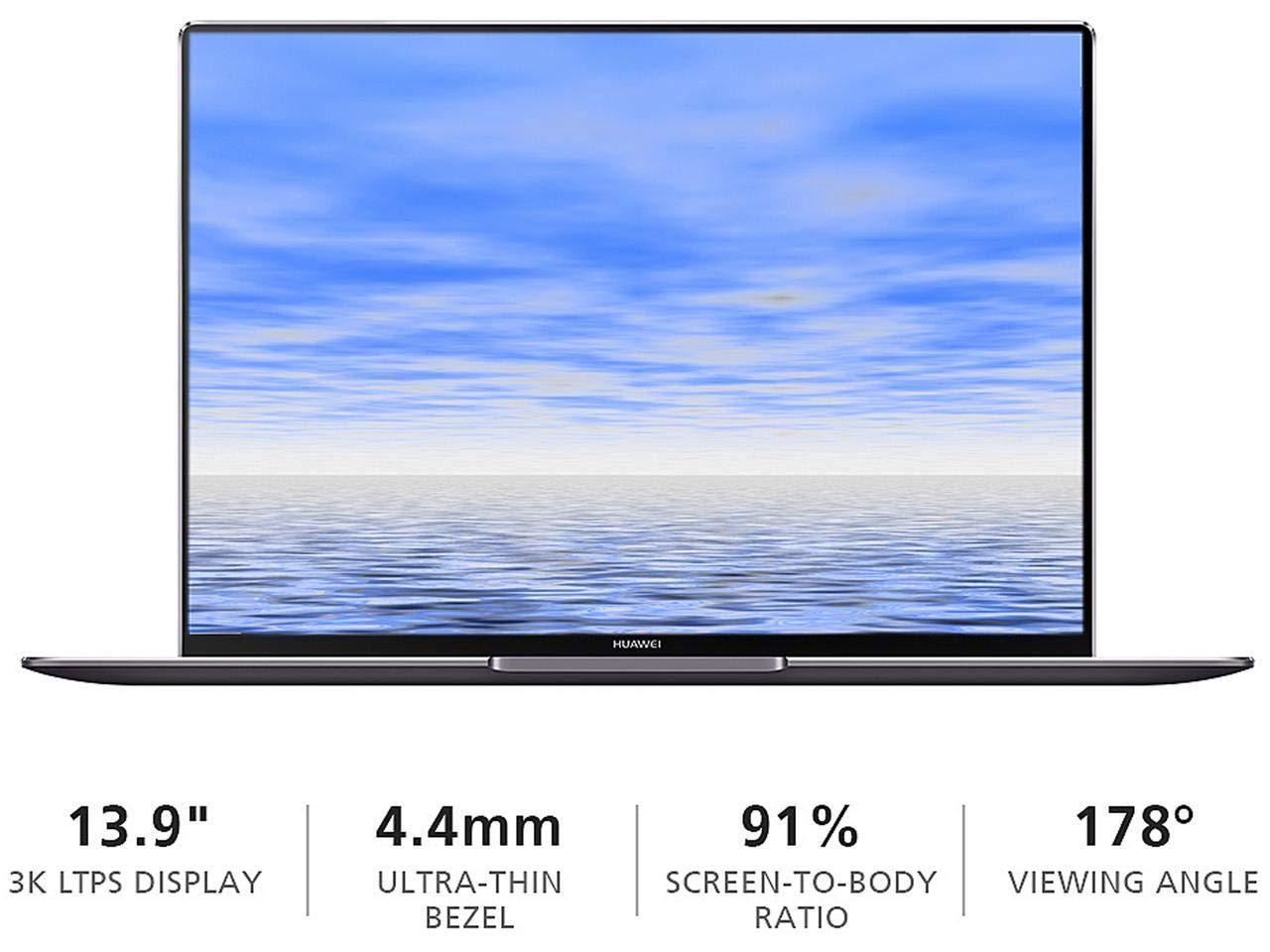 "Huawei MateBook X Pro i5 SSD 13.9"" 3K(3000x2000) Touchscreen Laptop Computer 2018 Newest, Intel Core i5 8th Gen up to 3.4 Ghz(Beat i7-7500U), 8 GB DDR4, 256 GB SSD, WiFi, Bluetooth, Windows 10"