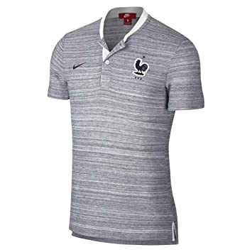 Nike 2018-2019 France Authentic Franchise Grand Slam Polo Shirt (White)   Amazon.es  Deportes y aire libre 033b9fdc549a6