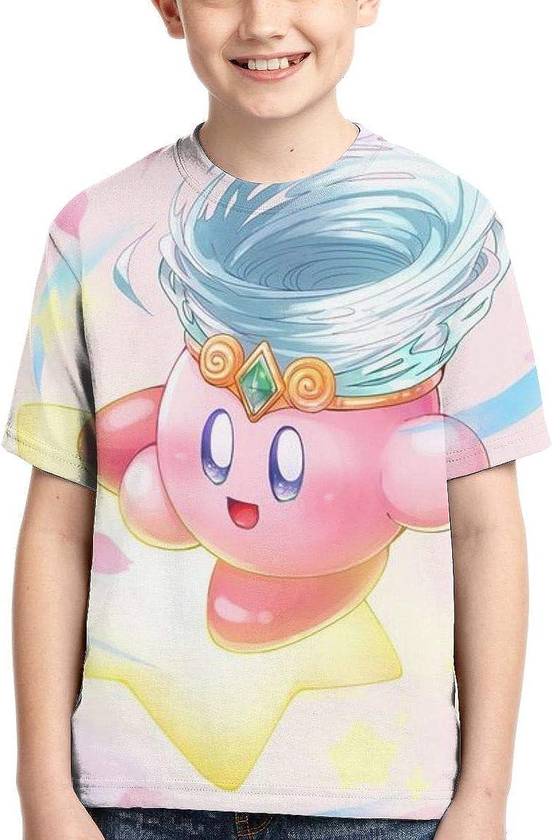 KALLYHHHAHA Kirby Unisex Kids Short-Sleeve T-Shirts Tee Shirts Top for Boys Girl
