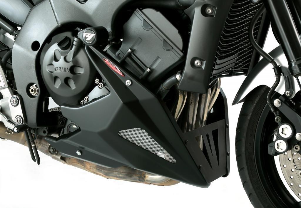 Puntale sottocarena per Yamaha FZ-1N/FZ1000 Fazer 06-15, nero opaco-argento, effetto rete Powerbronze