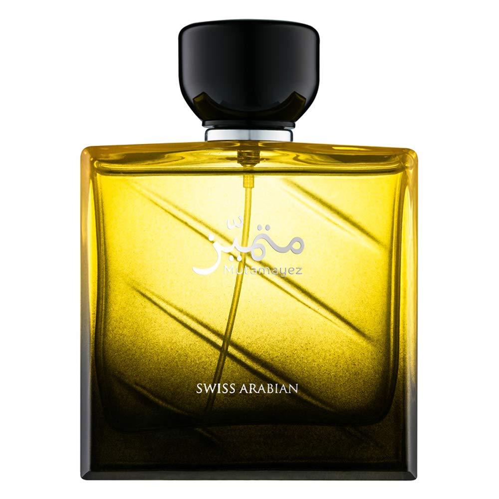 Mutamayez, Eau de Perfume for Men 100mL | Intense Aromatic Masculine Cologne | Blend of Orange, Pine, Clove, Vetiver, Amber, Musk and Subtle Oud Wood | By Fragrance Artisan Swiss Arabian | Spray EDP by SWISSARABIAN