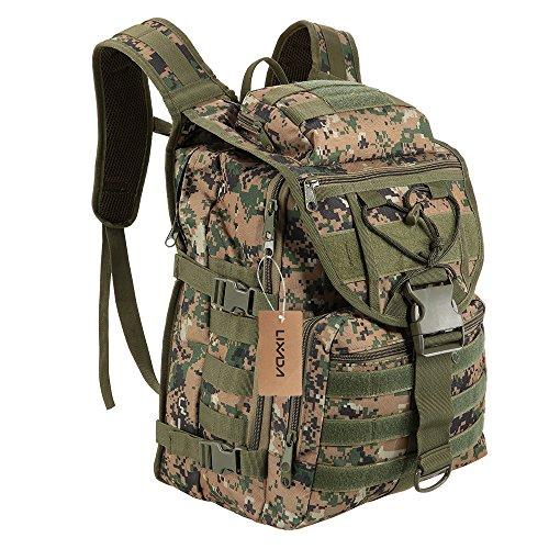 Lixada 40L Outdoor Gear Rucksack Daypack Pack Große Kapazität Wasserresistent Utility Bag für Jagd Camping Trekking Tarnfarbe 1
