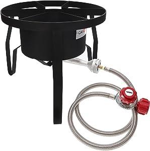 GasOne B-5300 High-Pressure Outdoor Propane Burner Gas Cooker Red QCC