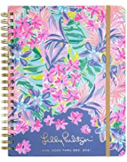 $34 » Lilly Pulitzer Jumbo 2020-2021 Planner Weekly & Monthly, Dated Aug 2020 - Dec 2021, 17 Month Hardcover Agenda with Notes/Address Pages, Stickers, Pocket, Laminated Dividers