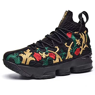 huge discount 8a8a2 bfdb1 Amazon.com | FQ Butterfly Men's Flower Embroidery Flyknit ...
