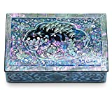 Jewelry Trinket Box Mother of Pearl Inlay Lacquered Cranes