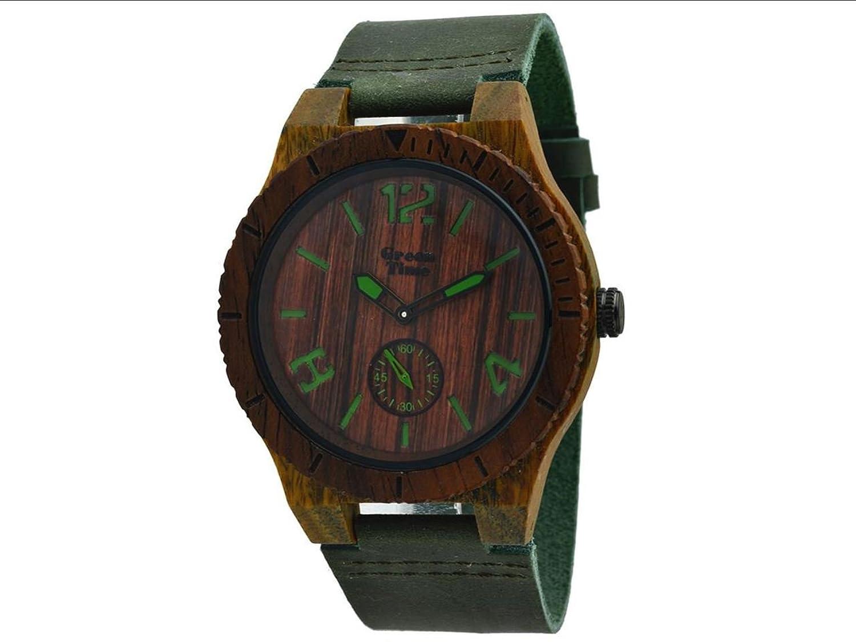 Greentime Armbanduhr aus Holz Sandelholz zw024 a