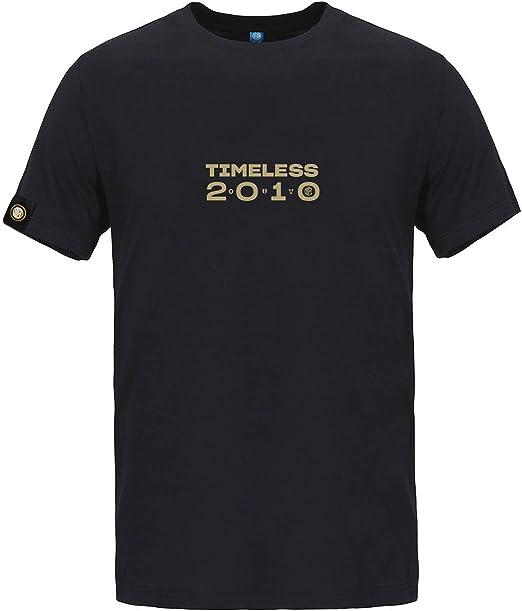 Inter T-Hirt Triplete-Timeless 2010 Impresión Vertical: Amazon.es: Deportes y aire libre