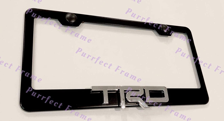 STAINLESS STEEL Chrome Metal License Plate Frame Holder w//Screw caps* 2x JETTA