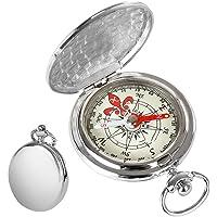 tangyuan Flip metalen Kompas Pocket Draagbare Directionele Overleving Gear Outdoor Navigatie Gereedschappen voor Camping Wandelen Rijden Gift Compass(Gouden) (Zilver)